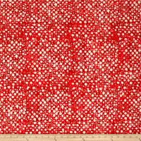 Kaufman Artisan Batiks Color Source Small Bubbles Red