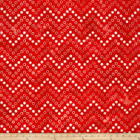 Kaufman Artisan Batiks Color Source Spaced Bubbles Red
