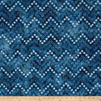 Kaufman Artisan Batiks Color Source Spaced Bubbles Navy