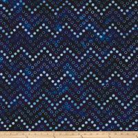 Kaufman Artisan Batiks Color Source Spaced Bubbles Indigo