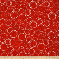 Kaufman Artisan Batiks Color Source Geo Bubble Red