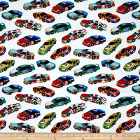 Fast Track Race Cars White/Multi