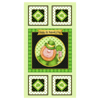 "Lucky Me Happy St. Patrick's Day 24"" Panel Green"