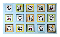 "& Co. Panda-monium Flannel Panda Boxes 25.5"" Panel Aqua"