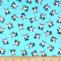 & Co. Panda-monium Flannel Mini Panda Aqua