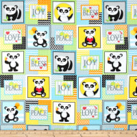 & Co. Panda-monium Flannel Panda Patch Multi