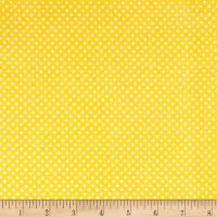 & Co. Panda-monium Flannel Dots Yellow