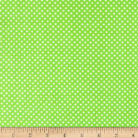 Henry Glass & Co. Panda-monium Flannel Dots Green