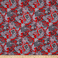 Romance Romantic Paisley Red