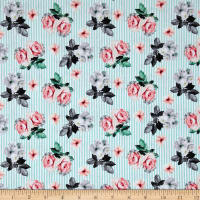 Romance Romantic Small Floral Lt Blue