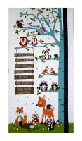 "To Be Or Not To Be 23.5"" Whimsy Forest Growth Chart Panel Lt Gray"