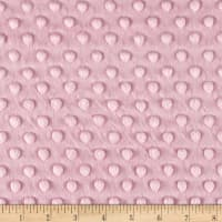 Michael Miller Minky Solid Dot Light Pink