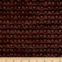 Michael Miller Minky Solid Dot Chocolate