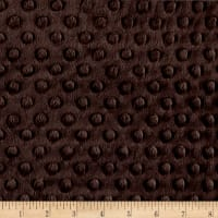 Michael Miller Minky Solid Dot Dark Chocolate