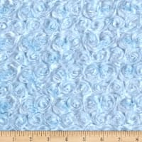 Michael Miller Minky Solid Rosebud Light Blue