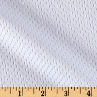 8.5 oz Athletic Stretch Mesh White