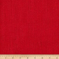 100% European Linen Burlap Red