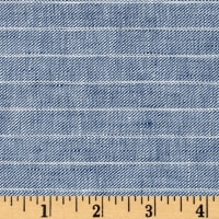 100% European Delave Linen Stripe Chambray Twill