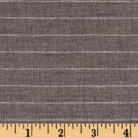 100% European Delave Linen Stripe Gray Twill