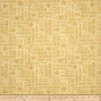 Uncorked Words Allover Dark Tan