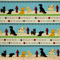 Dog Wisdom Repeating Stripe Multi