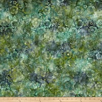 Wilmington Batiks Blossoms All Over Dark Blue/Green