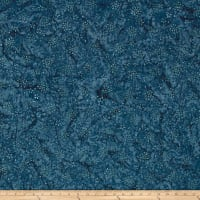 Wilmington Batiks Floral Burst Dark Blue