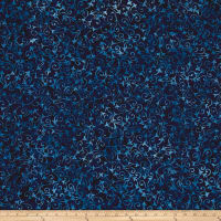 Wilmington Batiks Delicate Scroll Dark Blue