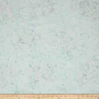 Wilmington Batiks Confetti Leaves Cream/Blue