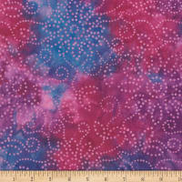 Wilmington Batiks Kaleidoscope Floral Purple