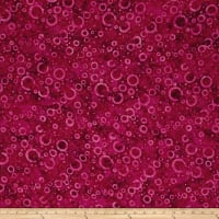 Wilmington Batiks Floating Circles Fuchsia