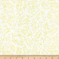 Wilmington Batiks Bamboo Leaves All Over Ivory/Yellow