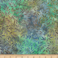 Wilmington Batiks Bamboo Leaves All Over Blue/Brown