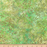 Wilmington Batiks Bamboo Leaves All Over Green/Gold