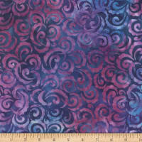 Wilmington Batiks Curlicues Blue