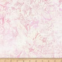 Wilmington Batiks Packed Floral Mix Cream/Pink
