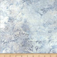 Wilmington Batiks Packed Floral Mix Light Gray