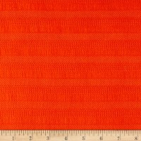 Italian Designer Textured Cotton Poplin Orange