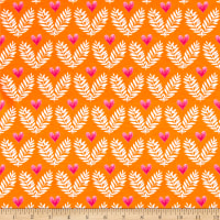 Michael Miller Frolic On Jersey Knit Big Love Tangerine