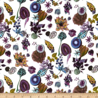 Liberty Fabrics Kensington Crepe de Chine Floral Earth Multi