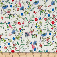 Liberty Fabrics Kensington Crepe de Chine Temptation Meadow Red/Blue/Green