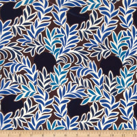 Liberty Fabrics Kensington Crepe de Chine Moonlight Blue/Brown