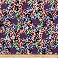 Liberty Fabrics Kensington Crepe de Chine Moonlight Purple/Multi