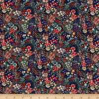 Liberty Fabrics Kensington Crepe de Chine Elderberry Red/Blue/Multi