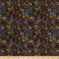 Liberty Fabrics Kensington Crepe de Chine Elderberry Multi