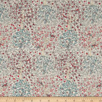 Liberty Fabrics Classic Tana Lawn Jess and Jean Red/Multi