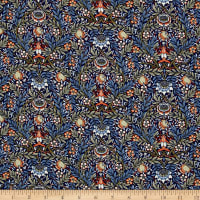Liberty Fabrics Saville Poplin Peach Pincher Blue/Green/Brown