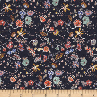 Liberty Fabrics Saville Poplin Peach Pincher Purple/Green/Blue