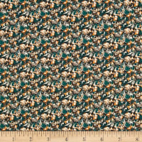 Liberty Fabrics Saville Poplin Alba Green/Orange