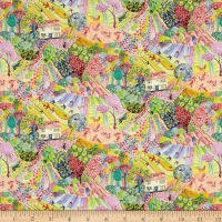 Liberty Fabrics Tana Lawn Royal Oak House Rainbow